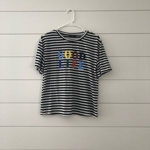 Good life striped T-shirt